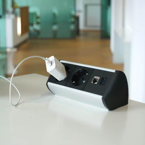 Steckdose für Schreibtisch mit Strom