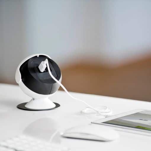 Runde Auftisch-Netbox mit USB