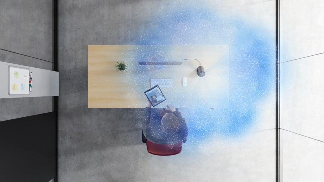 Virenfreie Luft am Arbeitsplatz