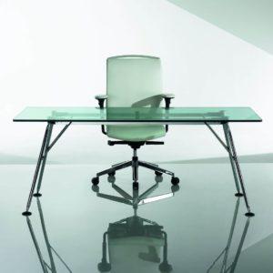 Bosse Nucleon Schreibtisch aus Glas