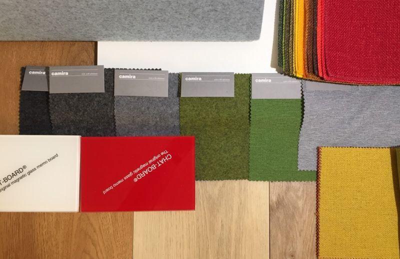Farben und Materialien Collage BUBLITZ