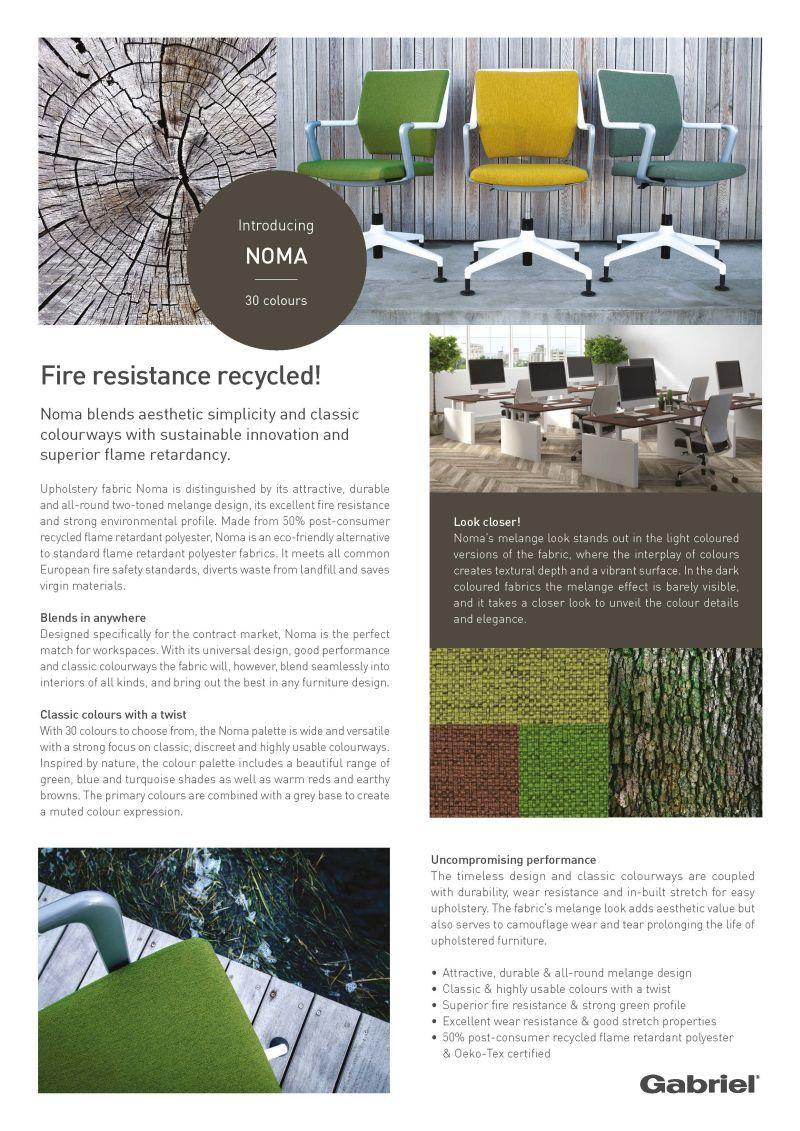 Design-Story von NOMA einem Stoff von GABRIEL