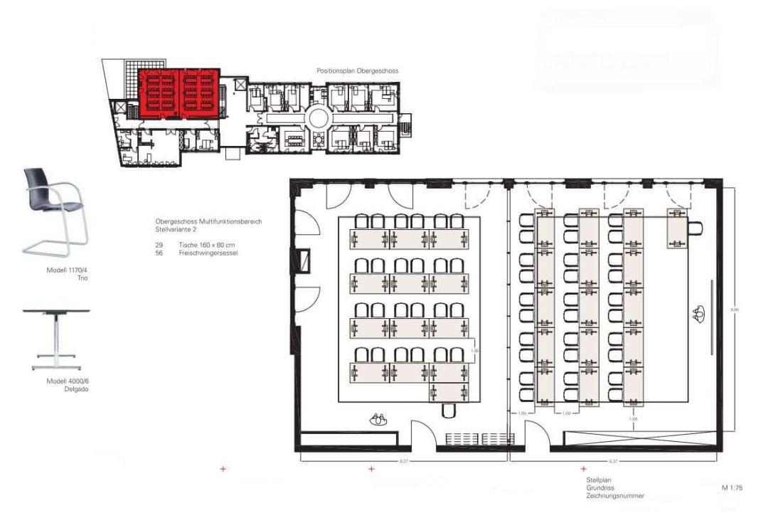 Beispiel für eine 2D-Planung mit Produktvorschlägen