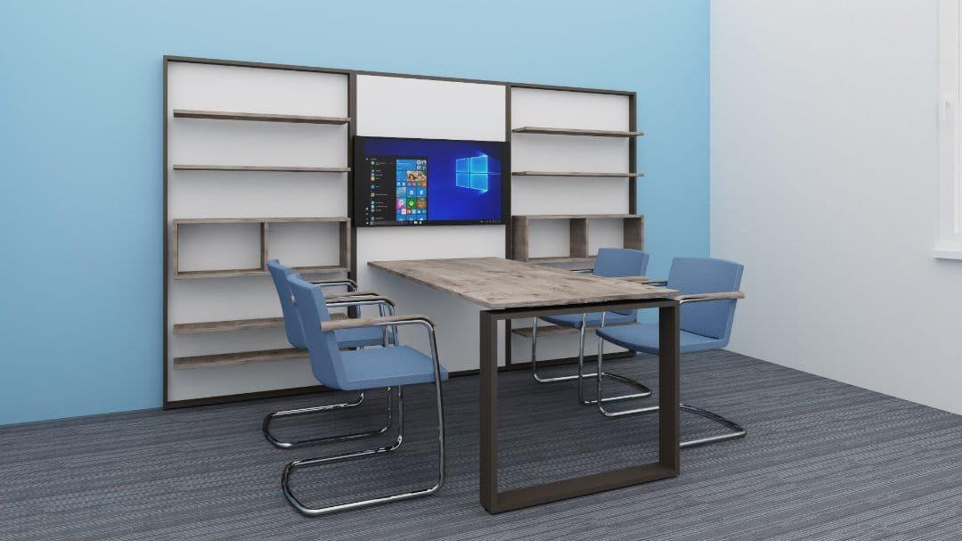 Meeting-Tisch mit Monitor in Besprechungsecke