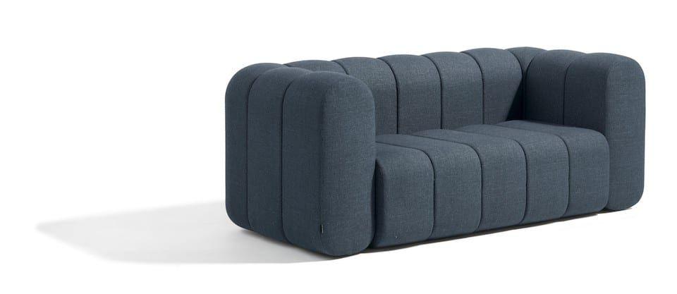 Einzelsofa aus einzelnen Modulen - blaugrau unendlich verlängerbar
