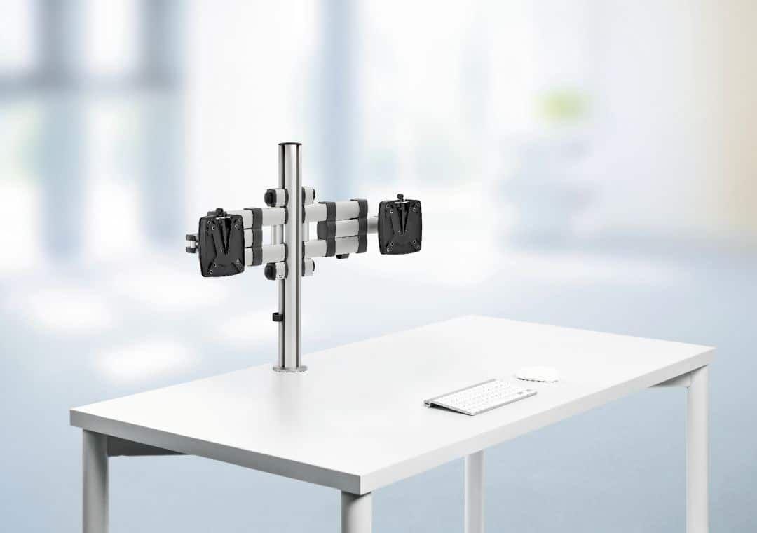 TSS Monitorarm ohne Monitore am Tisch befestigt