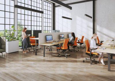 Für Gruppenarbeit optimal: Kommunikation über den Tisch hinweg.
