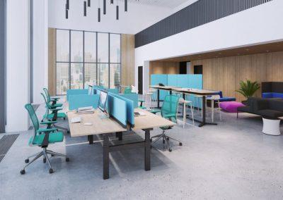 Auch für Hot-Desking gut geeignet: spontan Arbeiten und weiterziehen.