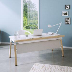 Schreibtisch OKA Homeline mit Holzfüßen