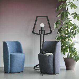 Loungesessel Aril in blau und grau
