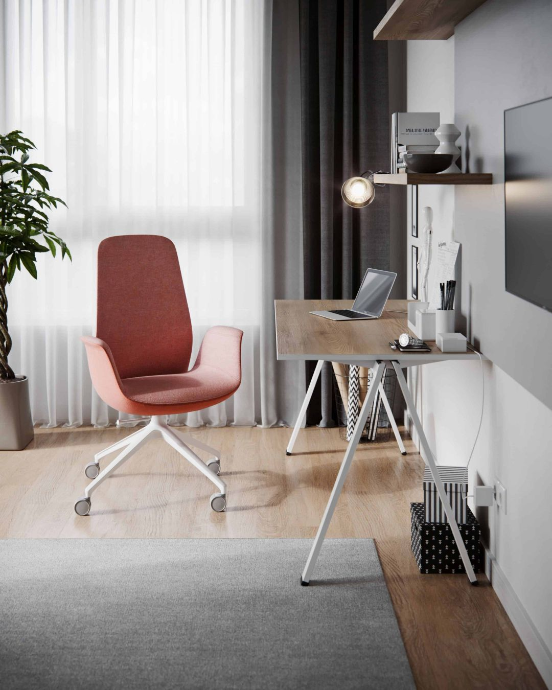 Drehstuhl Ellie Pro von Profi-M an einem Schreibtisch