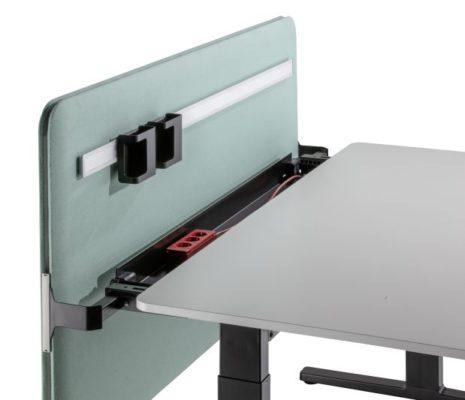 Lift-Kabelkanal beim Flow Tisch