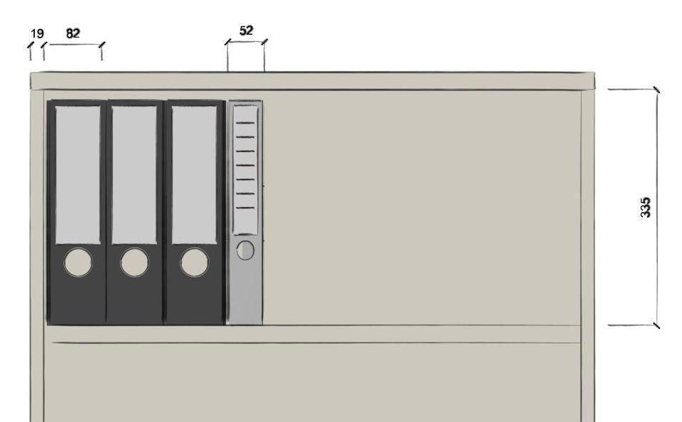 Beispielbild Büroschrank mit Schiebetüren für die Anordnung Ihrer Aktenordner