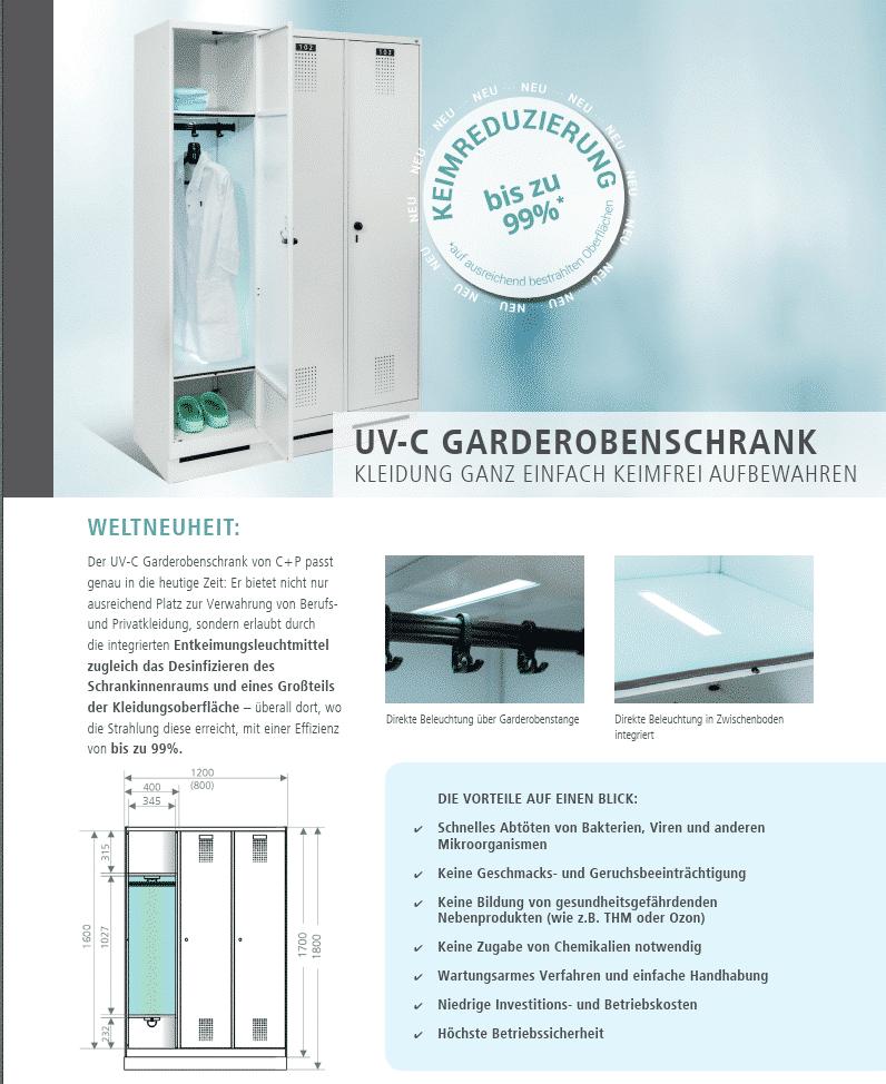 UV-C Spind / Garderobenschrank von C+P