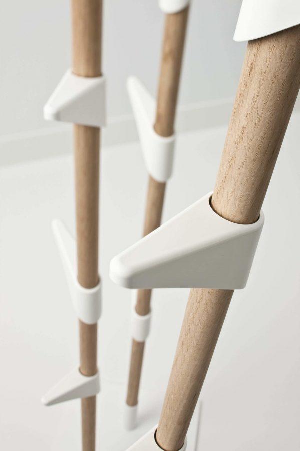 Detailaufnahme Garderobenhacken von Bamboo