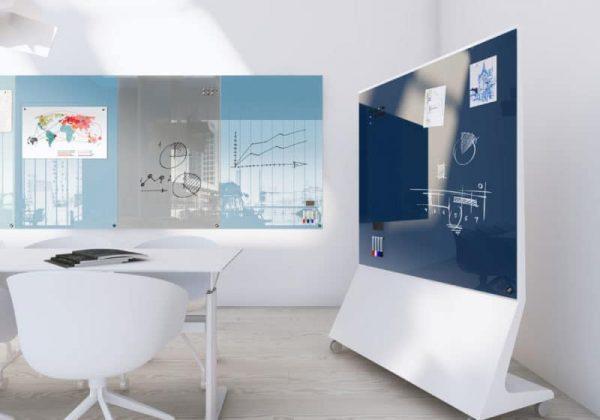 Magnetische Glastafel Mobile von Chat Board für Besprechungsräume