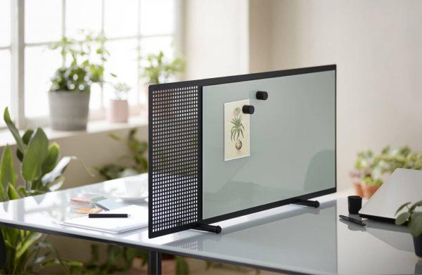 Trennwand mit Glas- und Filzelement von Chat Board