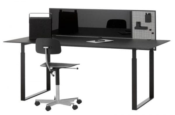 Squad Trennwand von Chat Board mit Tischklemme in schwarz