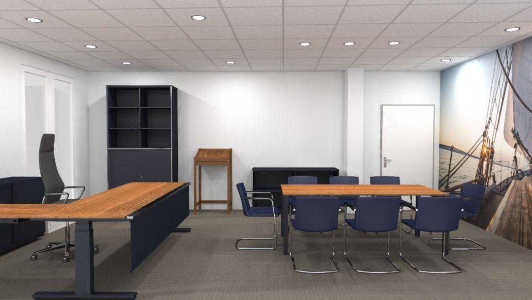 Chefzimmer in Nußbaum mit Segel-Thematisierung