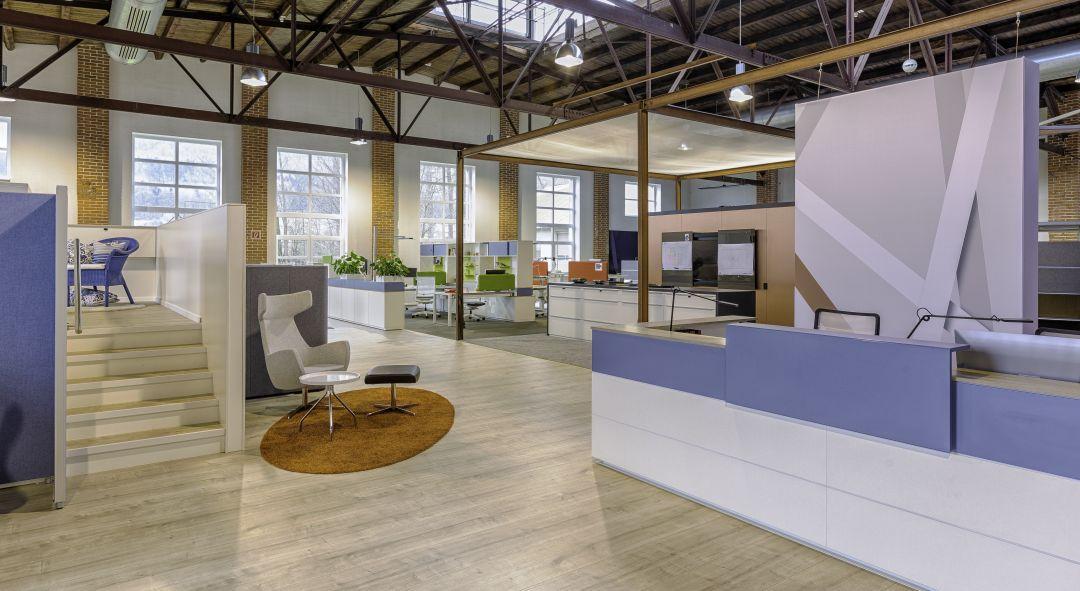 Verschiedene Bereiche im Coworking Space