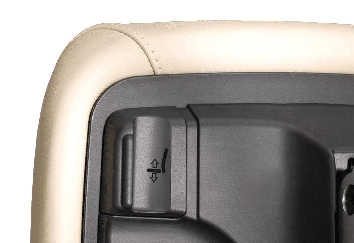 Lederbürodrehstuhl in weiß mit Hebeltechnik