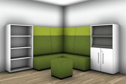 Eck-Sitzbank mit Stauraum in exakt gleicher Höhe