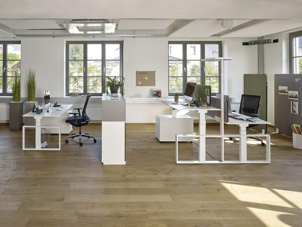 Elektrisch höhenverstellbare Schreibtische von Febrü im Büro