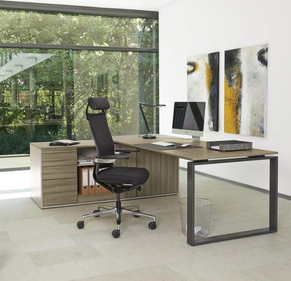 Intero Schreibtisch mit integriertem Sideboard