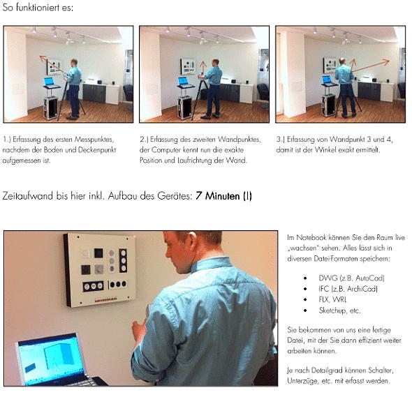 Premium-Aufmaß: Wand- und Winkelmaße auf den Millimeter genau im 3D-Grundriss dargestellt