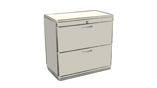 Büroschrank für Hängeregister - zwei Schubladen