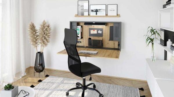 Wandschreibtisch in Holzoptik perfekt für das Home Office