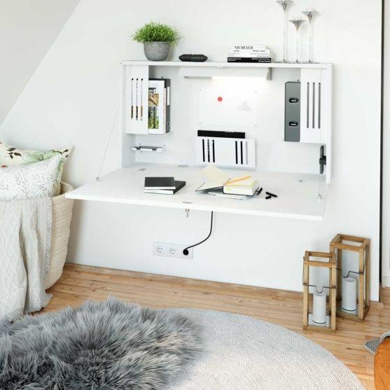Klappbarer Wandschreibtisch für das Home Office