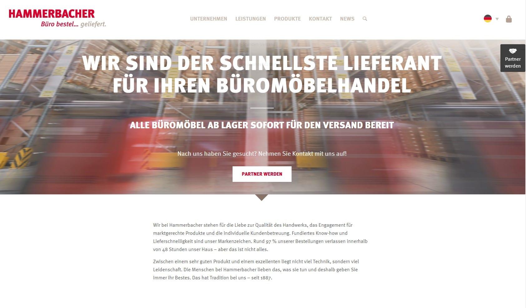 Website von Hammerbacher