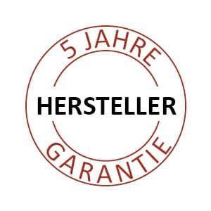 Zertifikat für 5 Jahre Garantie