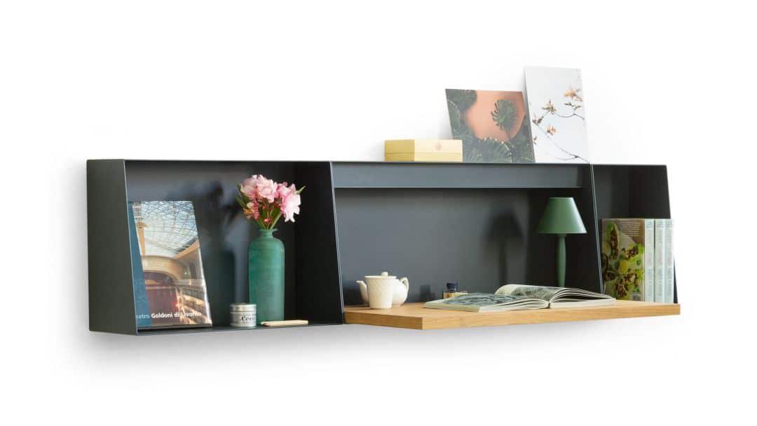 Schreibtisch und Ablage für die Wand von True Design