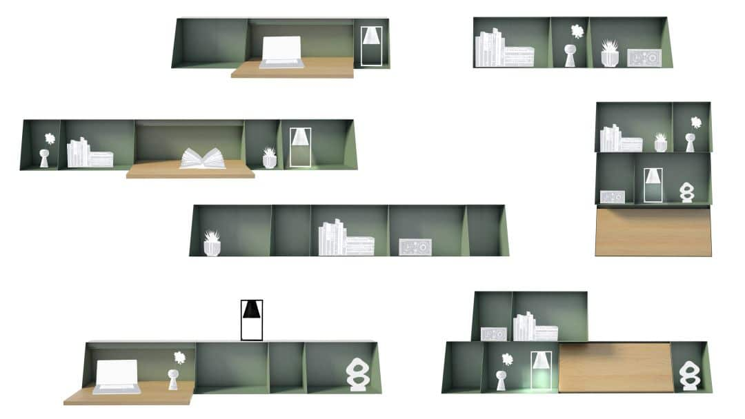 Übersicht Wandschreibtisch Varianten von Hella