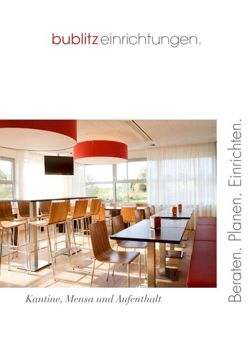 Deckblatt des Kantineneinrichtunen-Katalogs