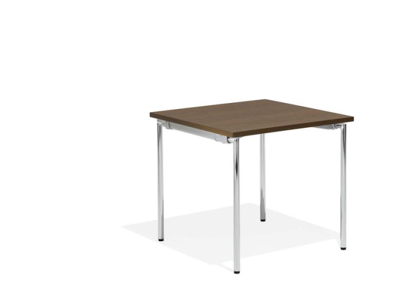 Kleiner klappbarer Tisch mit braunem Dekor