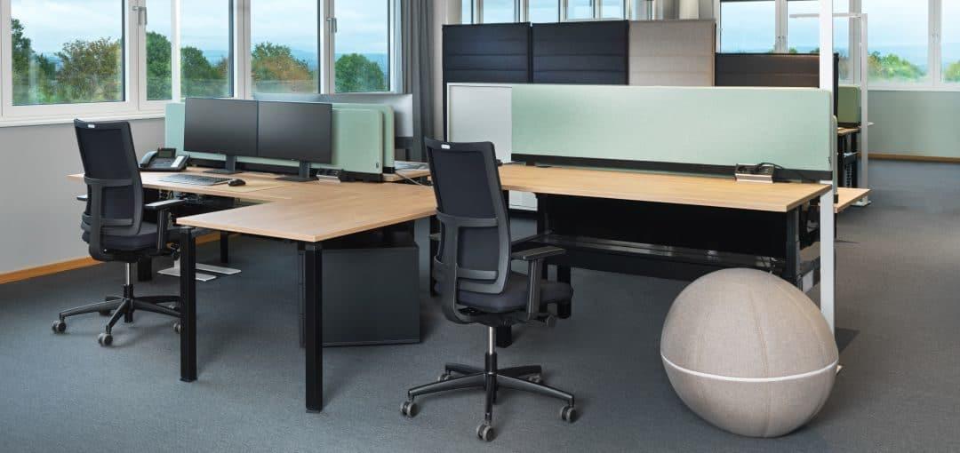 Bürodrehstuhl Papilio gepolstert und Netzrücken