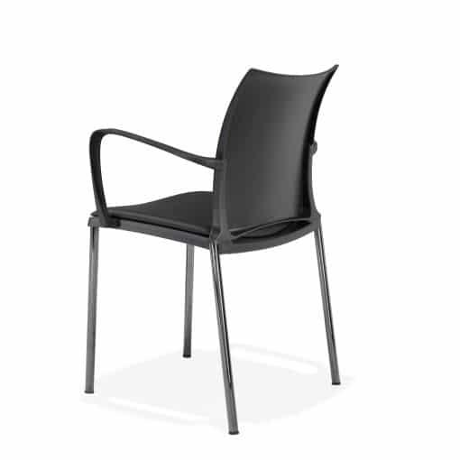 Stuhl HOLA für außen mit Armlehne in schwarz