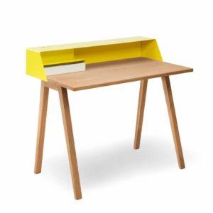 Sekretär PS04 - gelb und Eiche
