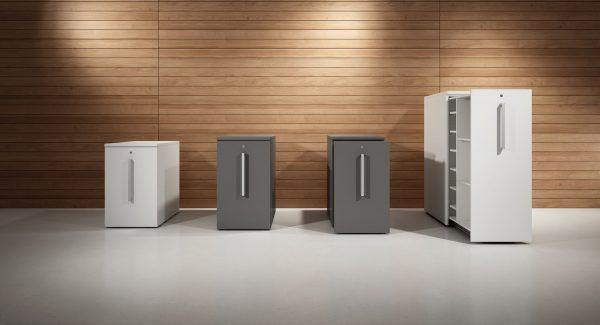 Diverse Ausführungen von OKA-High-Containern