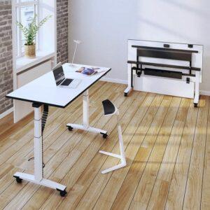Flexibler, klappbarer Schreibtisch auf Rollen von OKA