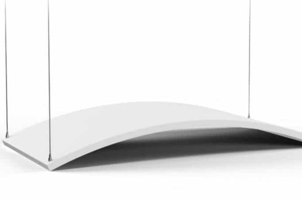 Gebogener Akustikabsorber für Decke