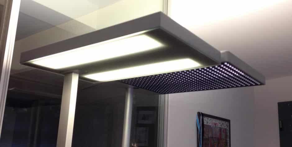 Vergleich Leuchten mit und ohne LED mit Entblendung