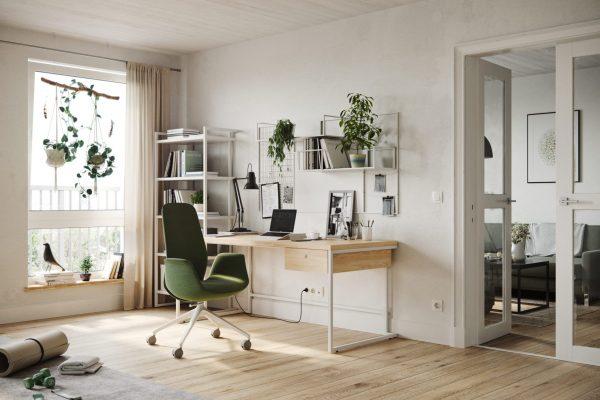 Ellie Pro im Home-Office in Grün