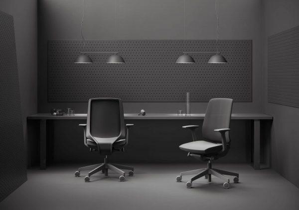 Light-Up Drehstuhl in schwarz