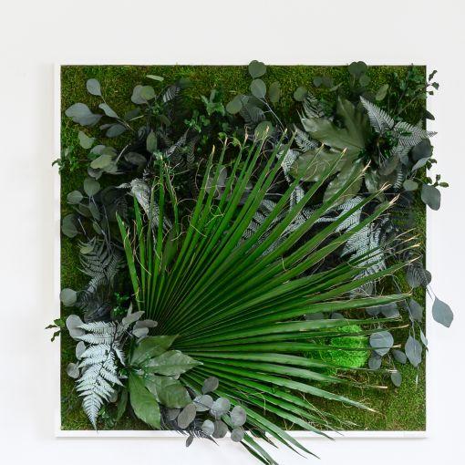 Echtes Pflanzenbild im Dschungel-Stil