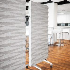 Akustikwand Wall Panel von VANK auf Rollen