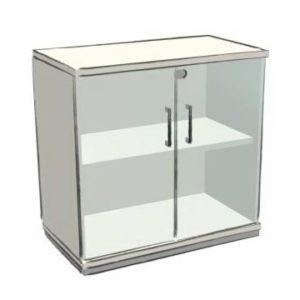 OKA Vitrinenschrank mit Glastüren